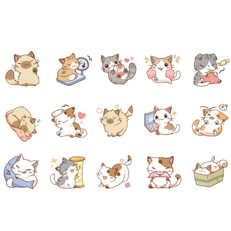Картинки наклейки милые котики
