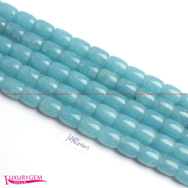 US $8 67 27% OFF|Aliexpress com : Buy Free Shipping 10x12mm Smooth Light  Blue Natural Aquamarines Stone Column Shape Gems Loose Beads Strand 15