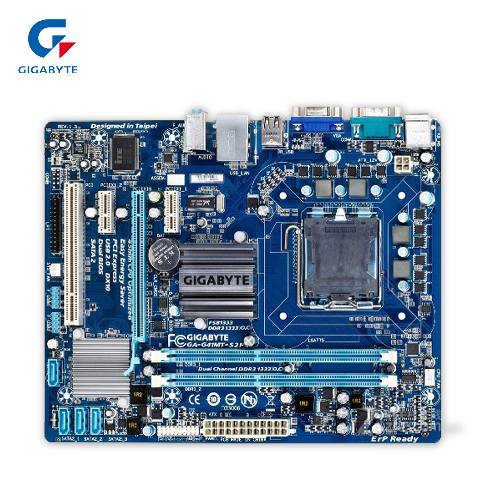 Gigabyte GA-G41MT-S2P Original Used Desktop Motherboard G41MT-S2P G41 LGA 775 DDR3 8G SATA2 USB2.0 Micro-ATX original motherboard ga g41mt s2 lga 775 ddr3 g41mt s2 8gb fully integrated g41 free shipping