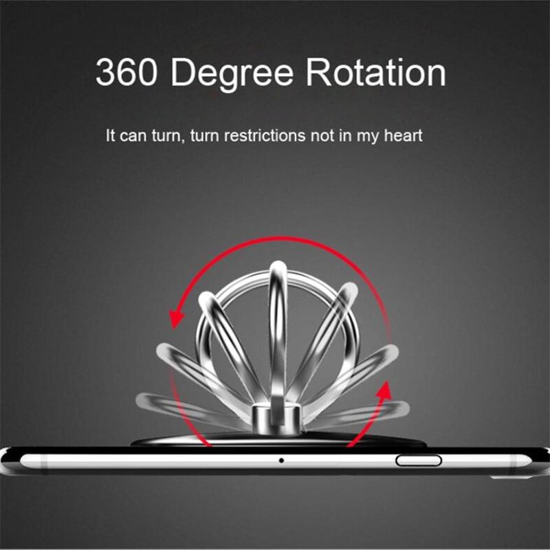 Top Tacit Luxury 360 Degree Metal Finger Ring Holder Smartphone Mobile Phone Finger Stand Holder For iPhone 7 6 Samsung Tablet