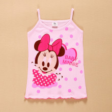 Lovely Summer Baby kids girl Minnie Tank tops toddler children girls Vest vetement fille Undershirt Camisole Tees enfant clothes
