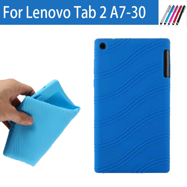 """Original High Quality Soft Silicon Rubber Skin Protective Cover Sleeve Case For Lenovo Tab 2 A7-30 A7-30TC A7-30HC 7"""" Tablet"""