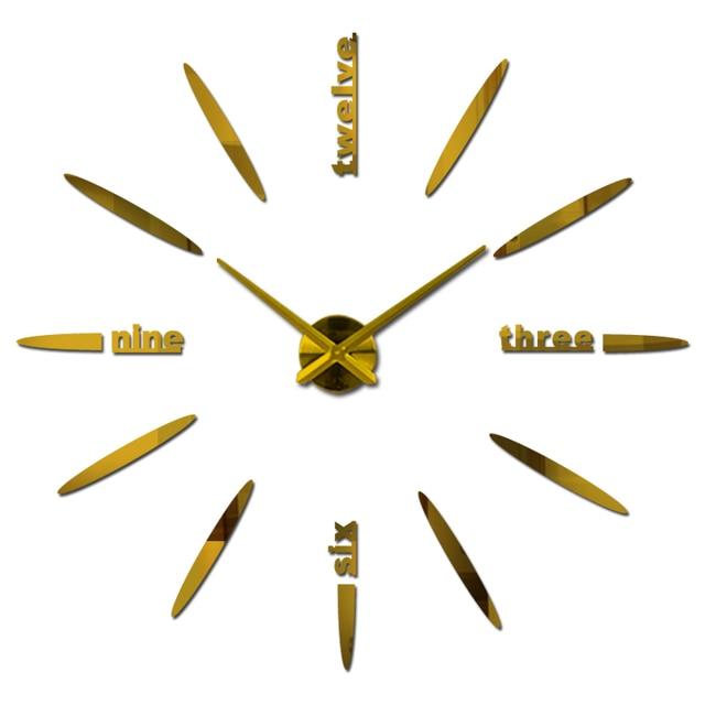 top fashion wall clock diy acrylic mirror stickers modern home decoration clocks living room still life quartz watch