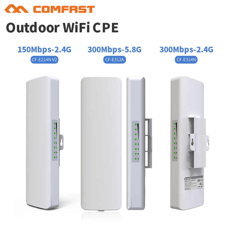 2.4G และ 5G Comfast สะพาน CPE กลางแจ้ง 150 Mbps และ 300 Mbps long range Signal Booster extender ไร้สาย AP 14dbI outdoor access point