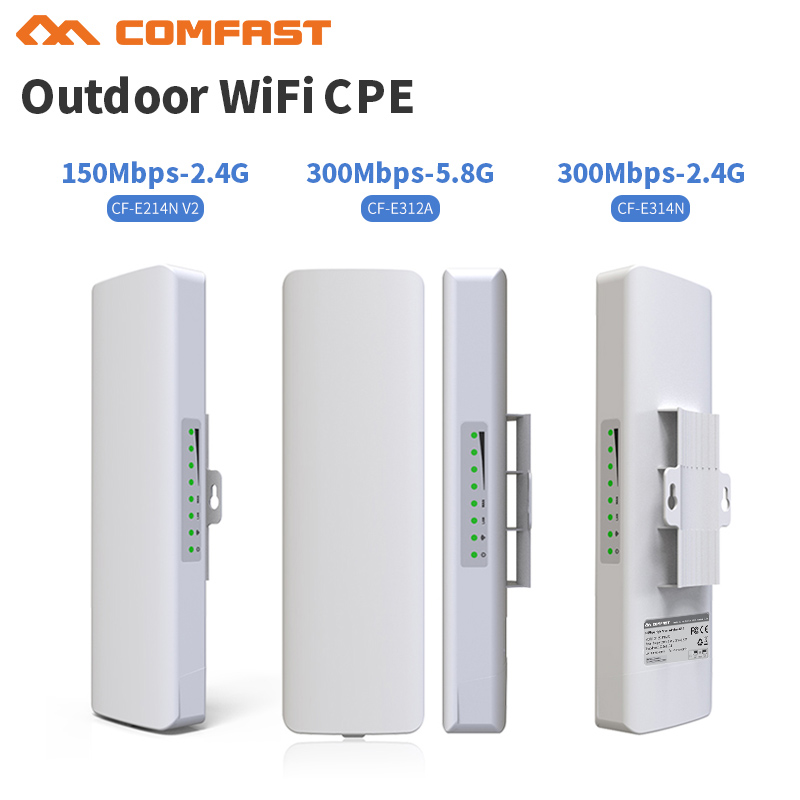 2.4G & 5G Comfast outdoor CPE bridge 150Mbps & 300Mbps long range Signal Booster extender Wireless AP 14dbI outdoor access point comfast 2 4ghz outdoor cpe bridge 150mbps long range signal booster extender 2 3km wireless ap 14dbi outdoor wifi repeater
