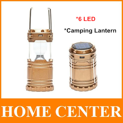 Solar 6 Led Rechargeable Led Camping Lantern Emergency