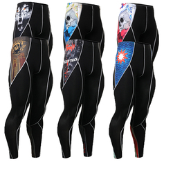 Base layers male tights men long trousers pants compression tight 3d prints fitness crossfit skin size.jpg 250x250