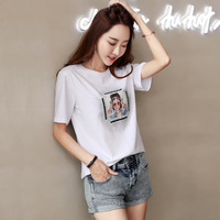 DZ T Shirt Women New t shirts women 2018 vogue Vintage tshirts cotton women O Neck Short Sleeve B463