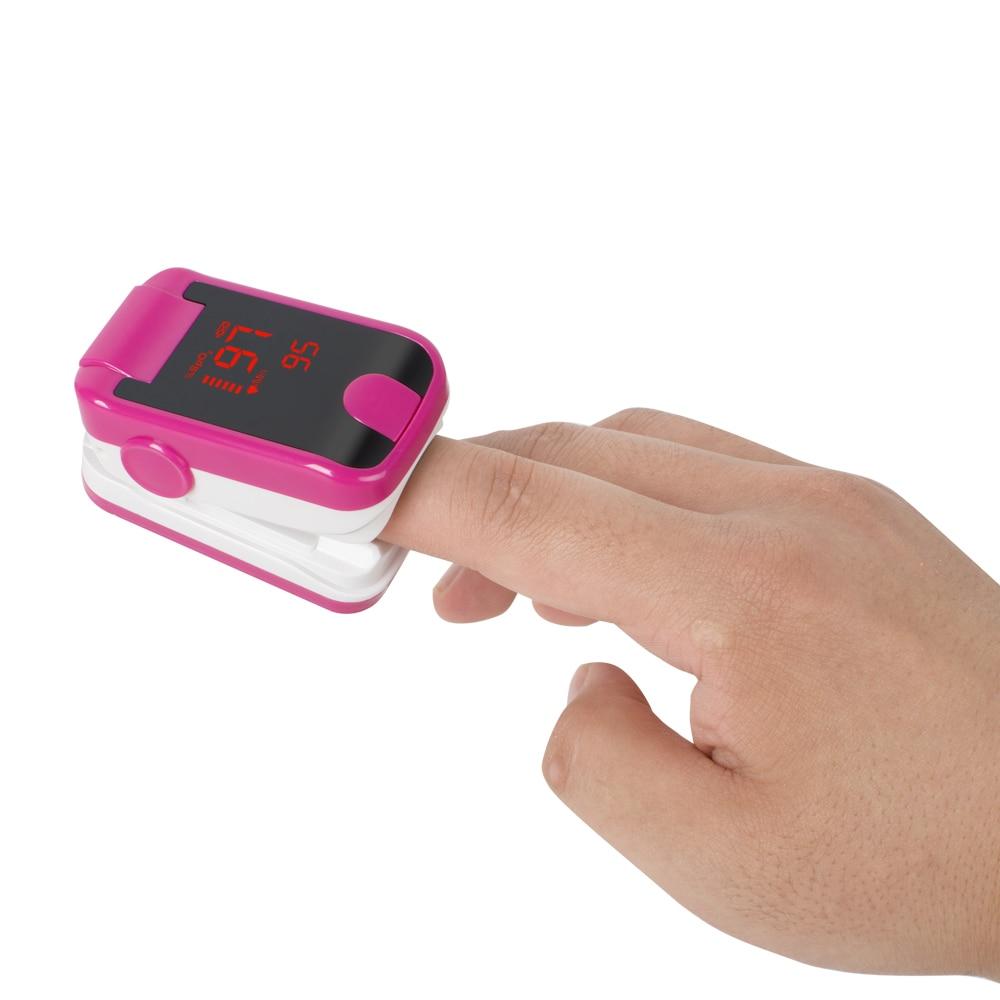 New 8C1 Rose Red Portable LED Finger Tip Pulse Oximeter Blood Oxygen SpO2 PR Monitor