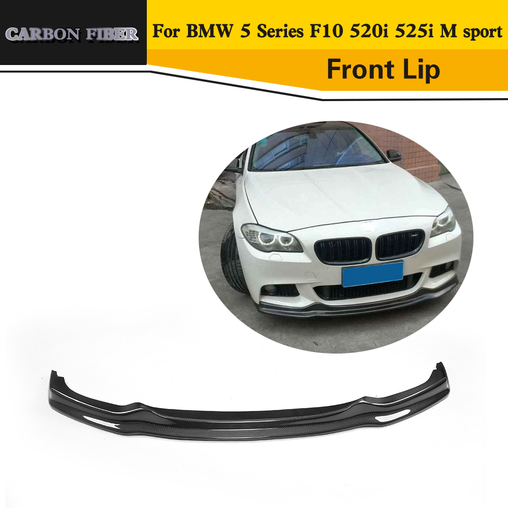 Car Styling Carbon Fiber Style Front lip spoiler For BMW 5 Series F10 520i 525i M sport Bumper 2011-2015