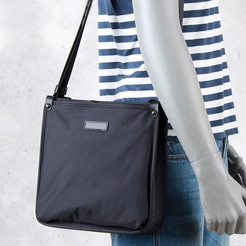 Men Messenger Bag Bolsos Mujer Office Working Bag Briefcase Portafolio Waterproof Nylon Black Cell Phone Pocket Crossbody Bags