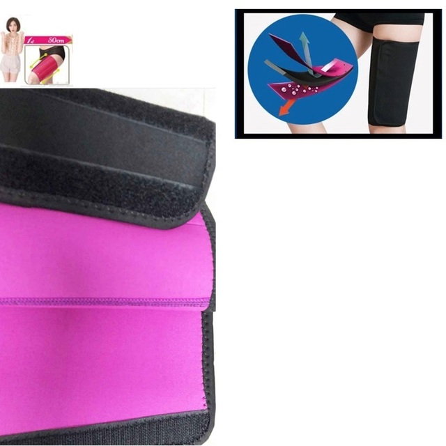 2pcs Leg Shaper Sauna Sweat Thigh Calories off Warmer Slender Slimming Legs Redu Fat Thermo Neoprene Compress Massage Belt 2