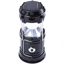 6 LED Rechargeable Solar Camping Lantern LED Torch Flashlight Cycling Tent Lights for Outdoor Lighting Hiking