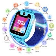 2018 Новый непромокаемый Детские умные часы SOS аварийный вызов LBS безопасности позиционирование отслеживание детские цифровые часы Поддержка SIM карты