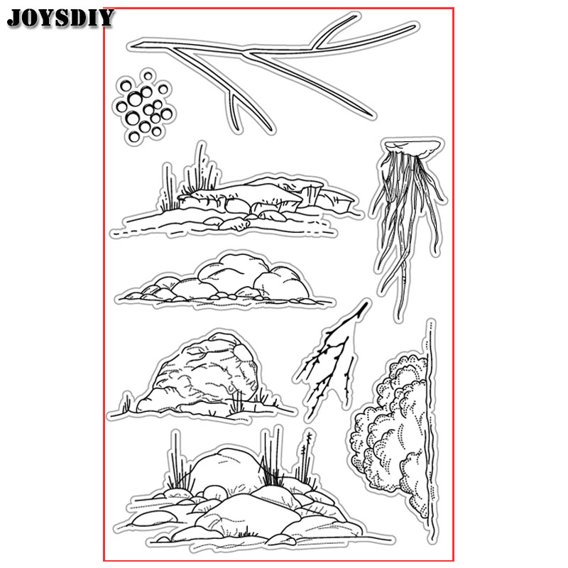 THE STONES TREES BACKGROUND Scrapbook DIY photo cards account rubber stamp clear stamp transparent  Handmade card stamp JOYSDIY scrapbook diy photo cards account rubber stamp clear stamp finished transparent chapter wall decoration 15 18