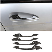 Carbon Fiber Style Outside Door Handle Trim For Mercedes Benz GLK/GL/ML/C Class W204 X204 Car Accessories