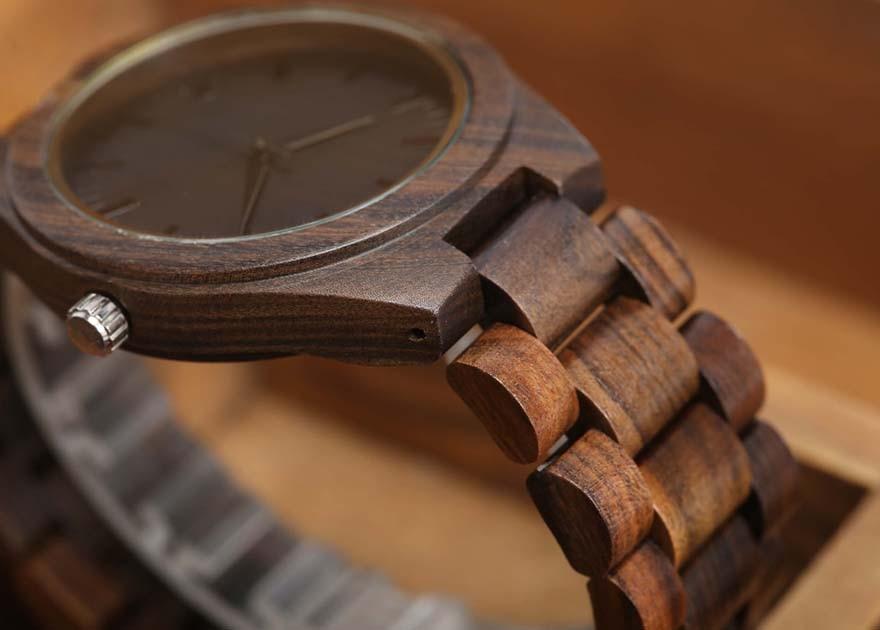 Walnut Wood Watch Men Natural Wooden Watches Male Casual Wristwatch Brown Clock 7