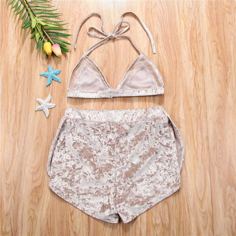 b0a3297c6aba7 Aliexpress.com : Buy Sexy Ladies Clothes Sets Women Summer Fashion Sets  Golden Mesh Patchwork Crop Tops +High Waist Shorts Women Sexy Outfits from  ...