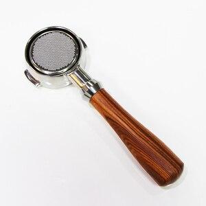 EXPOBAR Aibo E61 кофемашина ручка Dalbergia твердая древесина бездонная 58 мм Пивоваренная головка универсальная ручка фильтра без дна