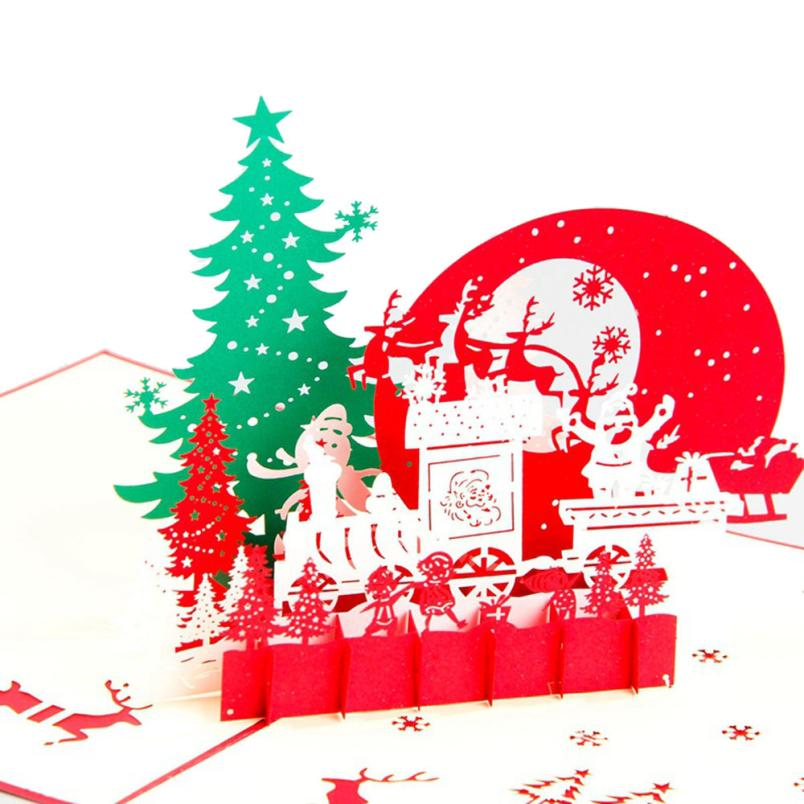 2017 NEW F  Merry Christmas 3D Cards Wedding Lover Happy Birthday Anniversary Greeting Cards  A821 30pcs in one postcard take a walk on the go dubai arab emirates christmas postcards greeting birthday message cards 10 2x14 2cm