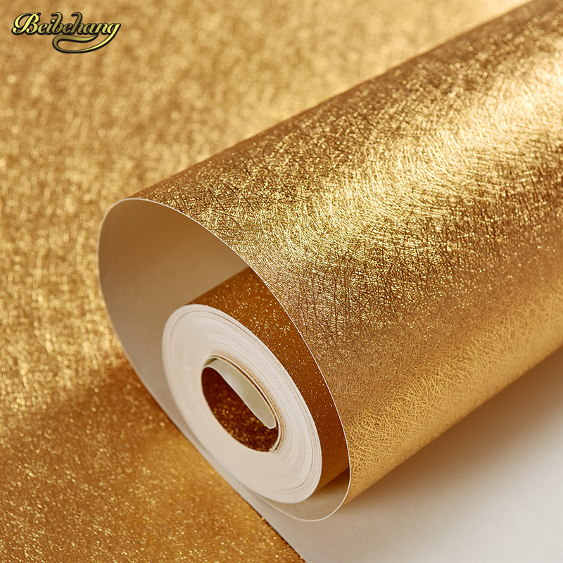 beibehang Sandstone 3D Stereo Gold Foil PVC Wallpaper Living Room Sofa TV Background Vinyl Wall Paper Home Decor Wallcovering 15267 2rs 15 26 7mm 15267rs si3n4 hybrid ceramic wheel hub bearing