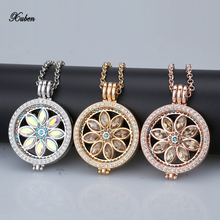 New sale 35mm coin holder disc fit for woman my 33mm coins fashion necklace pendant jewelry box design colorful shell 80cm chain