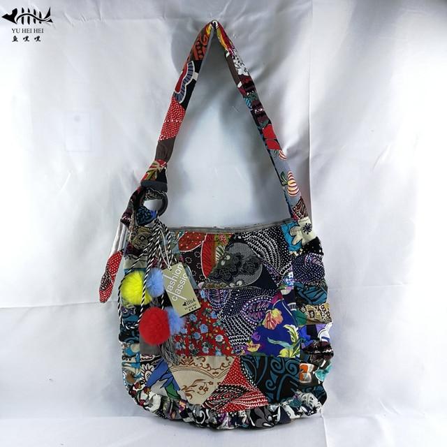 2019 Upgrade Bags Patchwork Vintage Fringe Bag Women Shoulder Crossbody Bag  Cotton Canvas DIY Adjustable Bag Women s Handbags 73c3d6580e66d