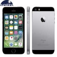 Téléphone portable d'origine débloqué Apple iPhone SE 4G LTE iOS A9 double noyau 2G RAM 16/64GB ROM 4.0 12.0MP Smartphone d'empreintes digitales