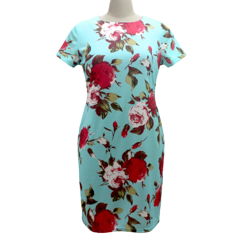 HTB1dVOMXcrHK1Jjy1zdq6zTwXXad 2019 Autumn Plus Size Dress Europe Female Fashion Printing Large Sizes Pencil Midi Dress Women's Big Size Clothing 6XL Vestidos