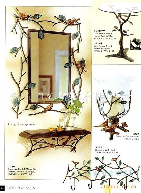 fashion-rustic-bathroom-mirror-iron-frame-vanity-mirror -shelf-rack-wood-board-diaphragn