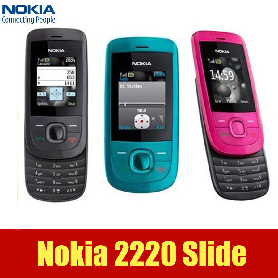 Unlocked original nokia 2220 slide cell phones 860mah mp3 player Cell  Phones in stock one year warranty-in Mobile Phones from Cellphones ...
