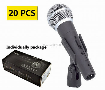 Free shipping, 20 pcs discount price sale sm-58sk wired dynamic vocal microphone , sm-58sk sm-58 wired microphone