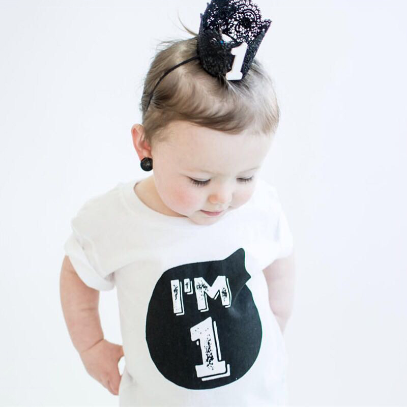Summer Baby Clothes T-shirt Tops Children's Clothing Girl Boys 1 2 3 4 Year Birthday Outfit Toddler Infant Party Shirts Costume summer baby boys girls casual style infant cotton suits toddler girl baby outfit lace t shirts tops shorts pants dot suit set