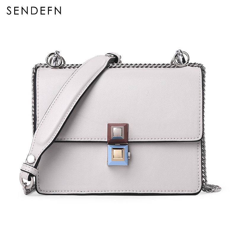 SENDEFN Brand Crossbody Bag Casual Shoulder Bags Women Small Fashion Split Leather New Messenger Bags Ladies With Specialy Lock jianxiu brand fashion women messenger bags split leather shoulder chain ladies saddle bag high quality small crossbody bags 2017