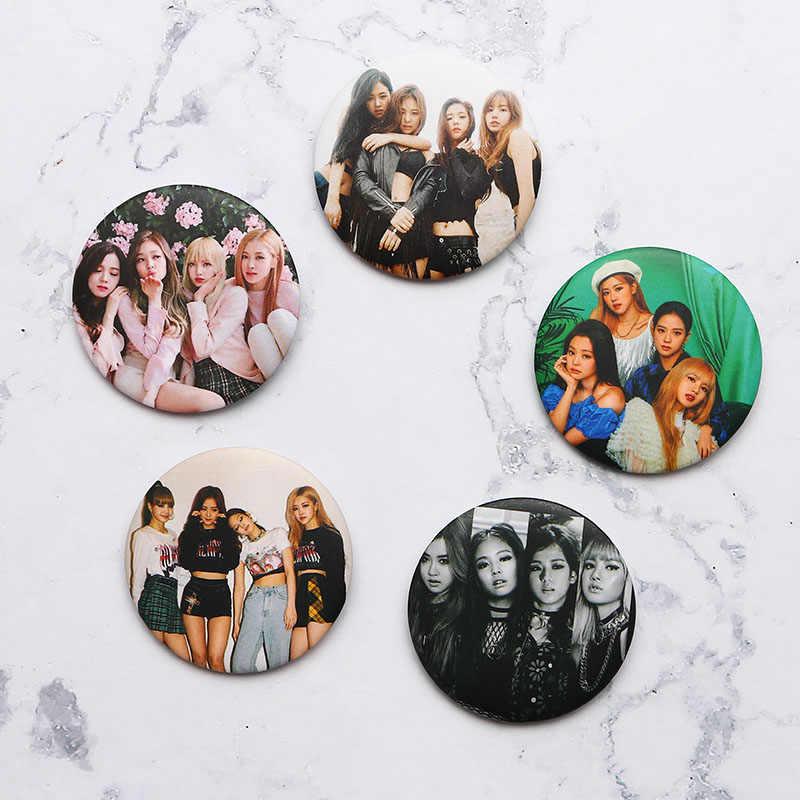 Entre os Fãs K-POP BLACKPINK Álbum Badge Pin Broche Broche de Acessórios Para Roupas Chapéu Mochila Decoração 1pcs Personalizável