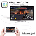 AV digital hdtv adapter for iphone 6s 6 SE 5S 7 hdmi CABLE MHL mobile phone to TV video ipad mini converter ipad air ios 10 BOX