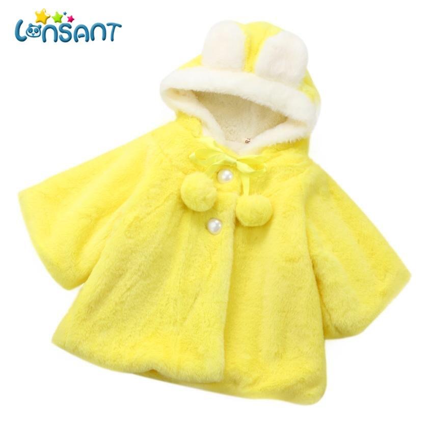 LONSANT 2018 зимние детские пальто для мальчиков и девочек плотная теплая одежда пальто с капюшоном модные милые куртка Fantasias Infantil дропшиппинг