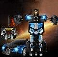 2 в 1 Преобразование 2.4 Г RC Пульт Дистанционного Управления Деформации Робот Автомобиль Аккумуляторная RC Автомобилей Игрушки