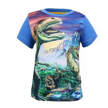 Hot Sale new Dinosaur World Children Kids 3-8 Years Short Tops Tees T Shirt Fille Summer Teenage Boys