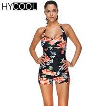 HYCOOL 2017 Retro Female Swimwear One Piece Swimsuit Monokini Floral Push Up Bathing Suits Women Swimming Suit Beachwear 3XL