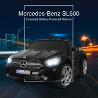 Uenjoy 12V Licensed Mercedes Benz SL500 Kids Ride On Car Electric Cars for Kids w/Remote Control & Music & Spring Suspension