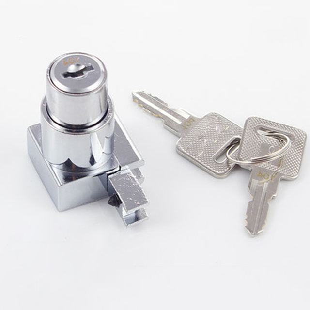 1pcs Zinc Alloy Card Slot Furniture Office Cabinet Door Lock Sliding Glass Showcase