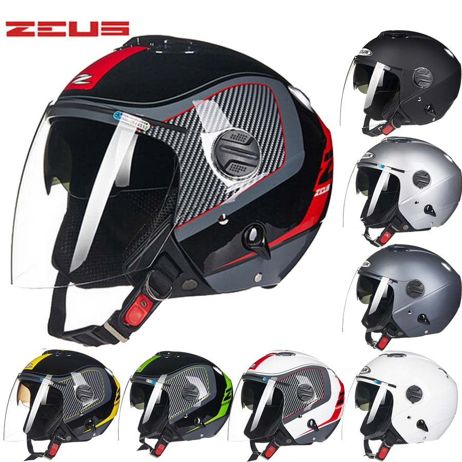 2017 Fashion Taiwan ZEUS Half Face motorcycle helmet ABS ...