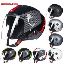 2017 Fashion Taiwan ZEUS Half Face motorcycle helmet ABS ZS202FB double-lens motorbike helmets electric bicycle Safety helmets