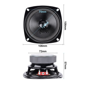 Image 4 - AIYIMA 1Pcs 4Inch Portable Full Range Audio Speaker 8 Ohm 50W Computer woofer Speakers DIY For Home Theater