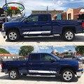 Автомобильный Стайлинг HotMeiNi  2x наклейки для автомобиля  набор полосок для Chevrolet Silverado  боковая Спортивная подсветка 2017 2016 2015 2014