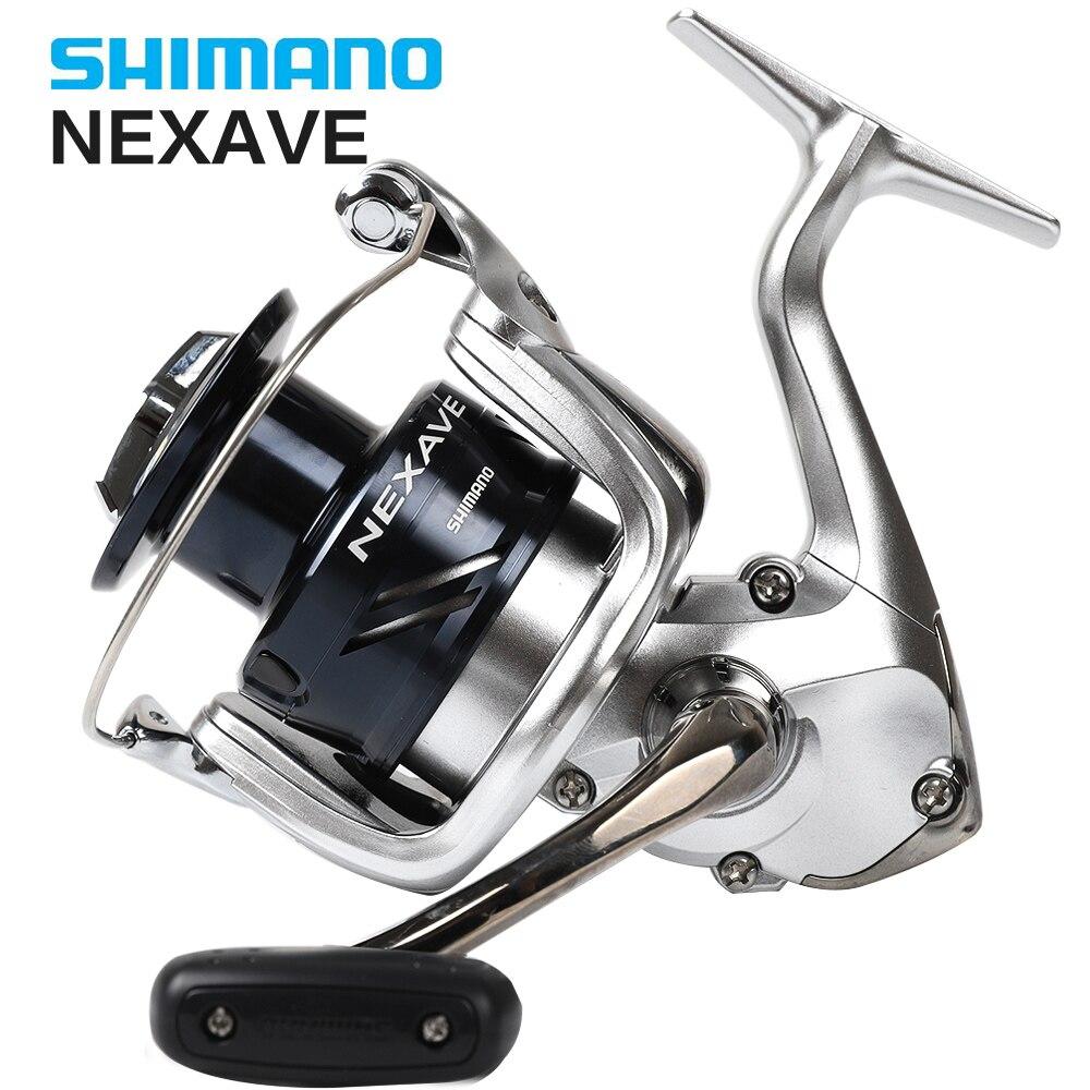 Shimano Original NEXAVE 1000 2500 C3000 4000 5000HG moulinet de pêche avec leurre gratuit 5.0: 1 faible rapport de vitesse glisser 4BB carpe d'eau salée
