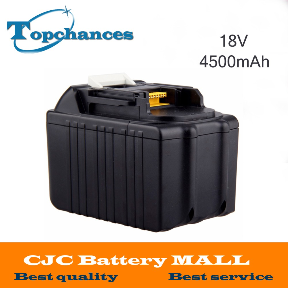 High Quality  4500mAh New Rechargeable Li-ion Replacement Power Tool Battery for Makita 18V BL1830 BL1840 LXT400 BL1815 194230-4 high quality 20v 2000mah li ion rechargeable battery power tool replacement battery for black