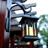 Newly Outdoor Solar Power LED Candle Light Yard Garden Decor Tree Palace Lantern Light Hanging Wall Lamp XSD88