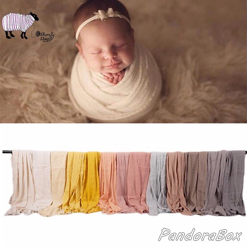 Newborn Stretch Wraps Photography Props Bubble Cotton Basket Filler Baby Girl Boy Photo Shoot Blanket Props fotoshooting Wrap